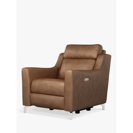 image-John Lewis & Partners Elevate Power Recliner Leather Armchair, Metal Leg