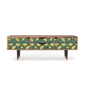 """image-Zayac TV Stand for TVs up to 70\"""" Ebern Designs Pattern: Gingko Leaves"""