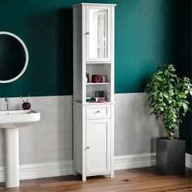 image-40Cm W x 190Cm H x 30Cm D Free-Standing Tall Bathroom Cabinet