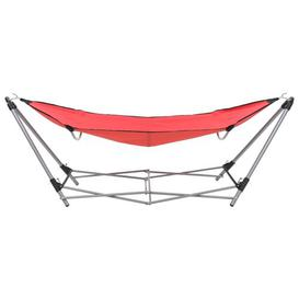 image-Camping Hammock with Stand Freeport Park Colour (Fabric): Red