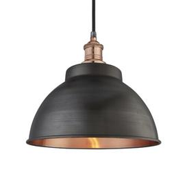 image-Brooklyn 1 Light Outdoor Pendant Industville Holder Finish: Copper