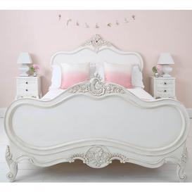 image-French Bed - Provencal Louis XV White Luxury Double Bed