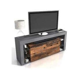 image-Borealis Hi-Fi Lowboard TV Unit In Matera And Old Style Dark