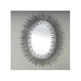 image-Camino Contemporary Wall Mirror Oval In Silver