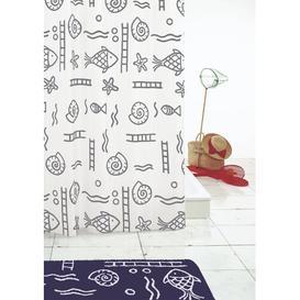 image-Riccione Shower Curtain Grund Colour: Grey, Size: 200cm H x 200cm W