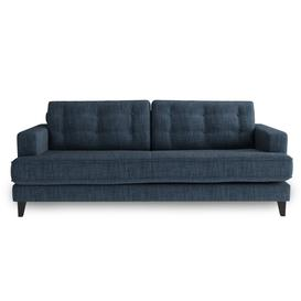 image-Heal's Mistral 4 Seater Sofa Broad Weave Lagoon Black Feet