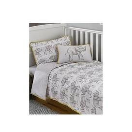 image-Samantha Faiers Little Knightley'S By Samantha Faiers - Elephant Trail Cot Bed Duvet Cover Set (Includes Pillowcase)