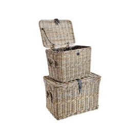 image-Rowico Anya Grey Rattan Log Baskets Set Of 2