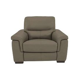 image-Aneto Leather Manual Recliner Armchair - Grey- World of Leather