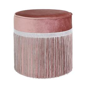 image-Gatsby Dressing Table Stool Willa Arlo Interiors Colour: Pink