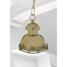 image-Chaya 1 Light Outdoor Pendant Longshore Tides Fixture Finish: Oxide Brass