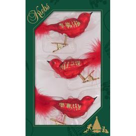 image-Set of 3 Christmas Birds Hanging Figurine Ornaments