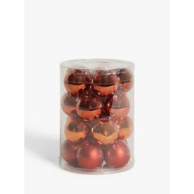 image-John Lewis & Partners Bloomsbury Baubles, Tub of 20, Copper