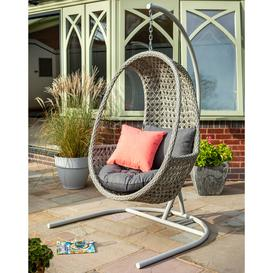 image-2020 Hartman Heritage Single Hanging Cocoon Chair - Ash/Slate