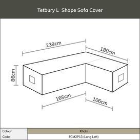 image-2020 Bramblecrest Tetbury Rectangle Modular Sofa Cover - Long Left