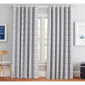 image-Beacon Falls Eyelet Room Darkening Thermal Curtains ClassicLiving Panel Size: Width 228cm x Drop 228cm, Colour: Grey