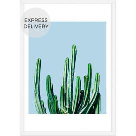 image-Cactus Botanical Framed Wall Art Print A2, Multi