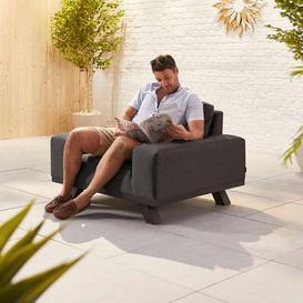image-Nova Garden Furniture Tranquility Dark Grey Fabric Lounge Chair