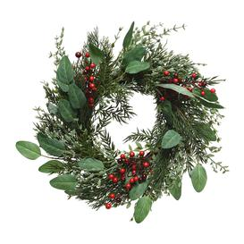 image-AMARA Christmas - Willow Berry Wreath - Red/Green