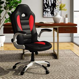image-Talladega High-Back Gaming Chair Symple Stuff Colour: Red and Black