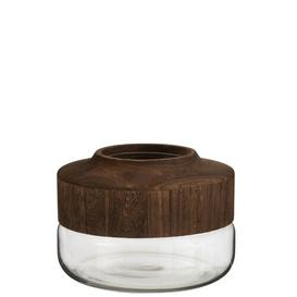 image-Gilroy Table Vase Union Rustic Colour: Dark Brown