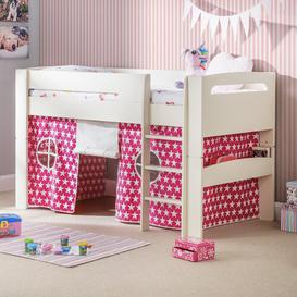 image-Agnes Single Mid Sleeper Bed with Curtain Just Kids