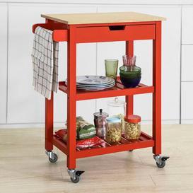 image-Liya Serving Cart Brambly Cottage Frame colour: Red