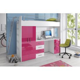 image-Asturia High Sleeper Bedroom Set Selsey Living Colour: Pink
