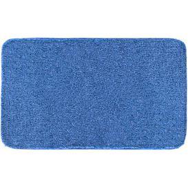 image-Melange Bath Mat Grund Size: 60cm W x 100cm L, Colour: Jeans blue