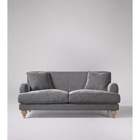 image-Swoon Chorley Two-Seater Sofa in Pepper Smart Wool With Short Light Feet