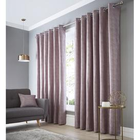 image-Bristoly Eyelet Room Darkening Thermal Single Curtain Three Posts Size per Panel: 168 W x 229 D cm, Colour: Heather