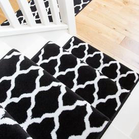 image-Black Trellis Stair Carpet Runner - Cut to Measure