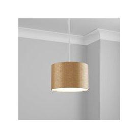 image-Made to Order 25cm Cylinder Shade Kensington Oatmeal