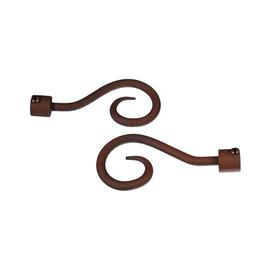 image-Curtain Finial Symple Stuff Colour: Dark brown