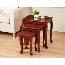 image-Elsner 3 Piece Nest of Tables Marlow Home Co. Colour: Mahogany