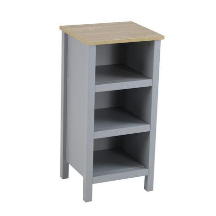 image-Amalfi Grey 3 Tier Shelf Unit Grey