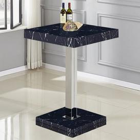 image-Topaz High Gloss Bar Table In Black Milano Effect