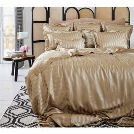 image-Luxury Golden Stripe Mulberry Silk Bed Linen by Gingerlily (Double...