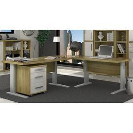 image-Mcveigh L-Shape Executive Desk Brayden Studio Top Colour: Dark Brown