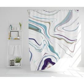 image-Lugenia Polyester Shower Curtain Set Canora Grey Size: 177cm H x 177cm W