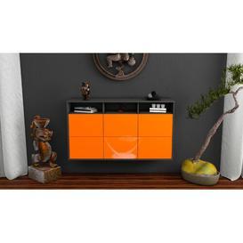 image-Jaydon Sideboard Brayden Studio Colour (Body/Front): Black/High Gloss Orange