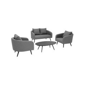 image-Alexandra 2 Seater Garden Sofa Set, Grey