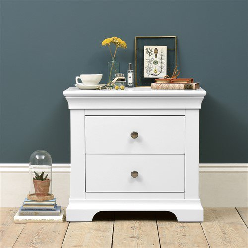 image-Chantilly White Jumbo Bedside