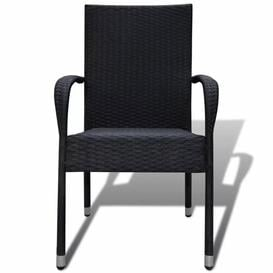 image-Leitha Stacking Garden Chair Sol 72 Outdoor Colour: Black