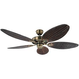 image-132cm Boutwell 5 Blade Ceiling Fan ClassicLiving Finish: Antique Brass
