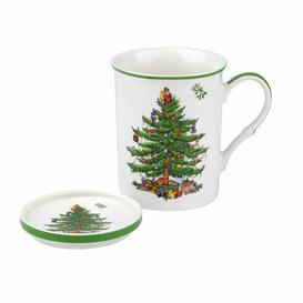 image-Christmas Tree Mug & Saucer Spode