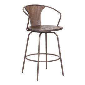 image-Rigsby Swivel Bar Stool Corrigan Studio Seat Height: Counter Stool (66cm Seat Height), Colour: Brown