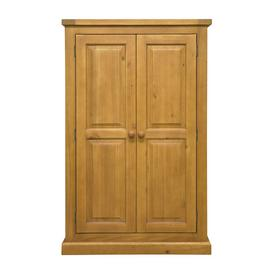 image-Cyprian Wooden Kids Room Wardrobe In Chunky Pine With 2 Doors