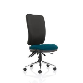 image-Stevia High Desk Chair Symple Stuff Colour (Upholstery): Black/Teal