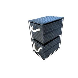 image-2 Drawer Storage Utility Cart House of Hampton Colour: Black